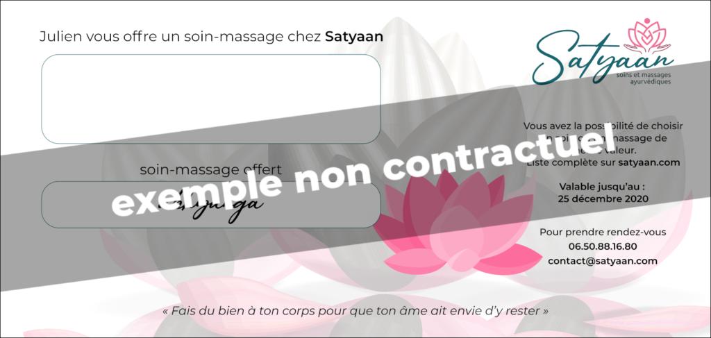 Carte d'invitation pour un soin-massage